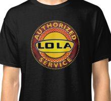 Vintage Lola Race Cars Authorized service sign Classic T-Shirt