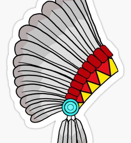 Indian Headdress Sticker