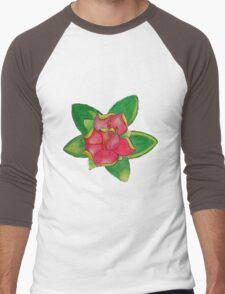 Modern rose in colored pencils Men's Baseball ¾ T-Shirt