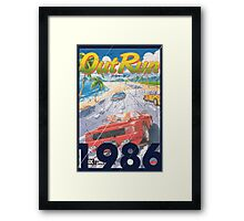 Out Run Framed Print