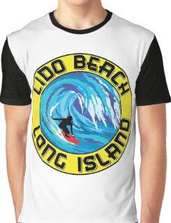 Surfing LIDO BEACH LONG ISLAND NEW YORK Surf Surfboard Waves Graphic T-Shirt