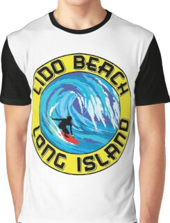 Surfing LIDO BEACH LONG ISLAND NEW YORK Surf Surfboard Waves Graphic T-Shirt