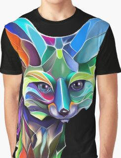 Kaleidoscope Fox; geometric poetry  Graphic T-Shirt