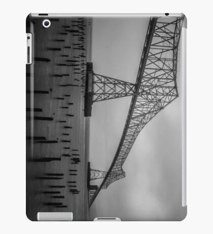 The Astoria–Megler Bridge, Astoria, Oregon.  In Black and White Perspective #2 iPad Case/Skin