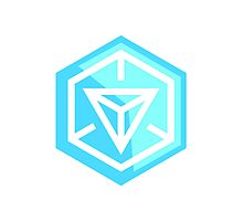 Ingress Game Logo - Blue (Resistance) Photographic Print