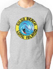 Surfing GILGO BEACH LONG ISLAND NEW YORK Surf Surfboard Waves Unisex T-Shirt