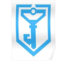 Ingress Resistance Logo - Blue Poster