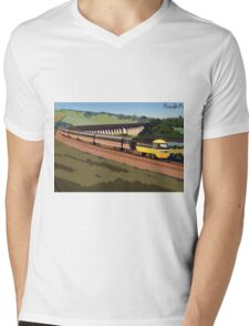 Across the Border (redone) Mens V-Neck T-Shirt