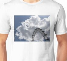 Silver, Blue and White - the London Eye Against Dramatic Sky Unisex T-Shirt