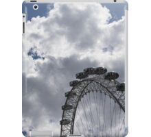 Silver, Blue and White - the London Eye Against Dramatic Sky iPad Case/Skin