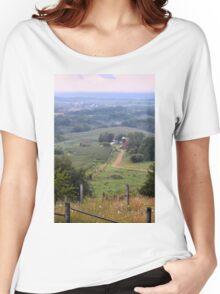 Valley Farm Portrait Women's Relaxed Fit T-Shirt