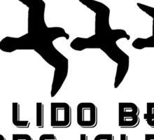LIDO BEACH LONG ISLAND NEW YORK SEAGULL SEAGULLS DECAL STICKER Sticker