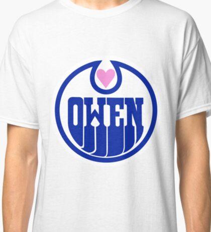 Owen Hart Edmonton Oilers logo (wrestling) Classic T-Shirt