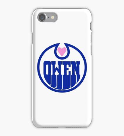 Owen Hart Edmonton Oilers logo (wrestling) iPhone Case/Skin