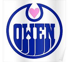 Owen Hart Edmonton Oilers logo (wrestling) Poster