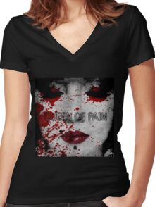 Queen of Pain Women's Fitted V-Neck T-Shirt
