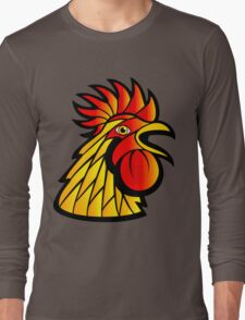 Rooster Head Long Sleeve T-Shirt