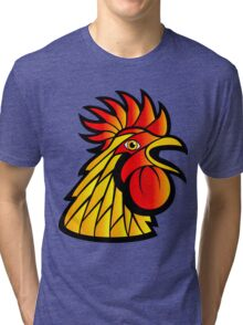 Rooster Head Tri-blend T-Shirt