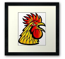 Rooster Head Framed Print