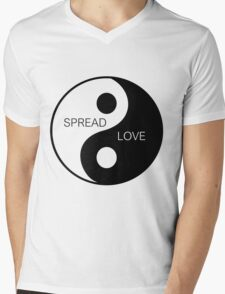 Yin Yang  - Spread Love Mens V-Neck T-Shirt