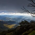 Panoramic view from Mount Buffalo at Sunset by Ben Ryan