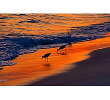 Beach couple Photographic Print