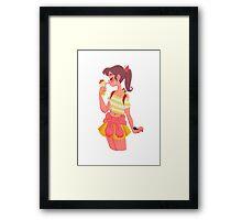 Pineapple Cool Off Framed Print