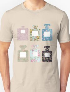 Floral bottles Unisex T-Shirt