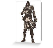 Minimalist Edward Kenway from Assasins Creed 4: Black Flag Greeting Card