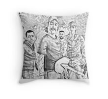 The Walking Dead Game Cast Throw Pillow