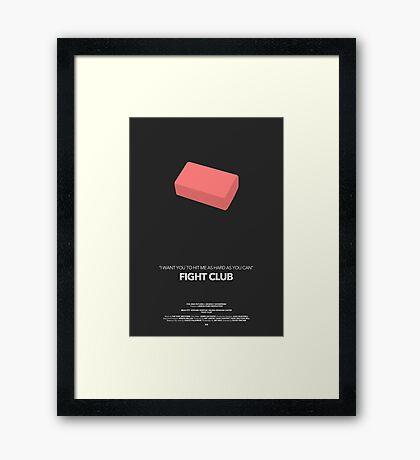 Fight Club Movie Poster Framed Print