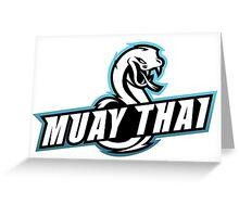 muay thai viper badge logo thailand snake fighter Greeting Card