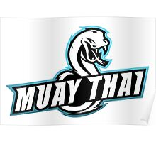 muay thai viper badge logo thailand snake fighter Poster
