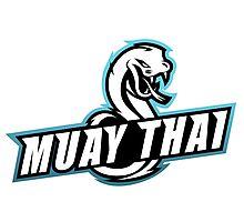 muay thai viper badge logo thailand snake fighter Photographic Print