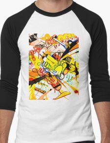 Gravity Painting Men's Baseball ¾ T-Shirt