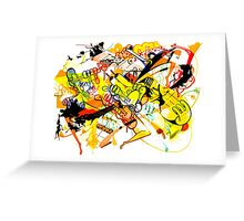 Gravity Painting Greeting Card