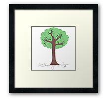 Forgotten Tree in color Framed Print