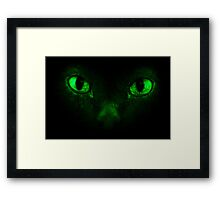 Demonic eyes Framed Print