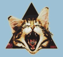 Kitten Triangle by 10813Apparel