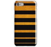 Gold diagonal light rays, seamless pattern iPhone Case/Skin