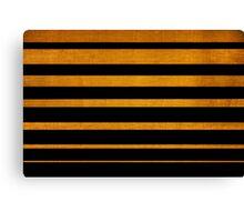 Gold diagonal light rays, seamless pattern Canvas Print