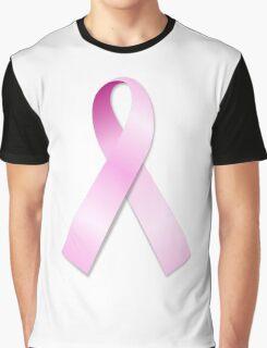 Breast Cancer Awareness Ribbon Graphic T-Shirt