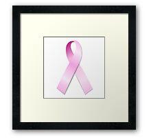 Breast Cancer Awareness Ribbon Framed Print