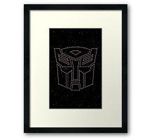 Stars Transformers Autobots Framed Print