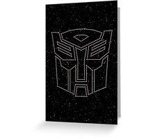 Stars Transformers Autobots Greeting Card