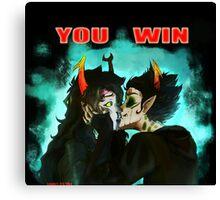 You Won Vriskan Canvas Print