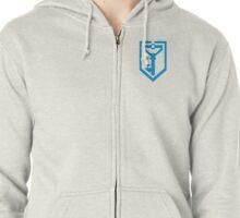 Ingress Resistance Logo over left Breast - Blue Zipped Hoodie