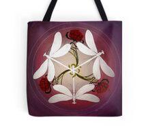 Dragonfly Kiss Mandala by Marg Thomson Tote Bag