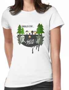 The Upside Down - Stranger Things Womens Fitted T-Shirt