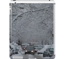 Montreal streest after a snowstorm iPad Case/Skin